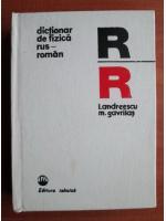 Anticariat: I. Andreescu - Dictionar de fizica rus-roman