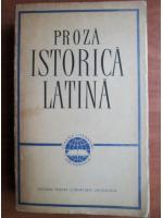 Anticariat: Proza istorica latina