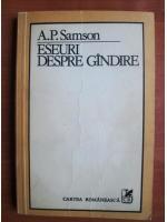 Anticariat: A. P. Samson - Eseuri despre gandire
