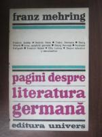 Anticariat: Franz Mehring - Pagini despre literatura germana