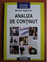 Mircea Agabrian - Analiza de continut