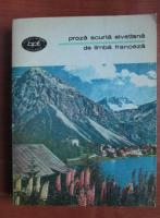 Anticariat: Proza scurta elvetiana de limba franceza