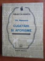Anticariat: Titu Maiorescu - Cugetari si aforisme