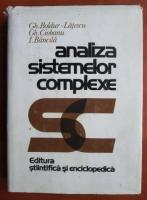 Anticariat: Gh. Boldur - Analiza sistemelor complexe