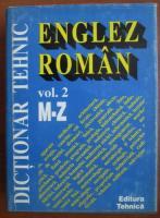 Anticariat: Dictionar tehnic englez roman (volumul 2)