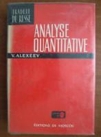V. Alexeev - Analyse quantitative