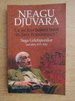 Neagu Djuvara - Ce au fost boierii mari in Tara Romaneasca? Saga Gradistenilor (secolele XVI-XX)
