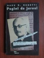 Anticariat: Radu R. Rosetti - Pagini de jurnal