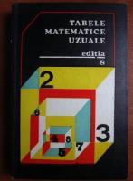 Anticariat: E. Rogai - Tabele matematice uzuale (editia a 8-a)