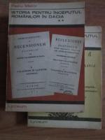 Anticariat: Petru Maior - Istoria pentru inceputul romanilor in Dacia (volumele 1 si 2)