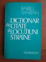 Anticariat: Barbu Marian - Dictionar de citate si locutiuni straine