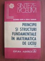 Anticariat: Alexandru Leonte - Principii si structuri fundamentale in matematica de liceu (volumul 2)