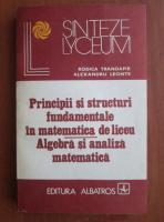 Anticariat: Rodica Trandafir - Principii si structuri fundamentale in matematica de liceu. Algebra si analiza matematica