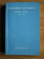 Anticariat: Zaharia Stancu - Poeme simple (1925-1943)