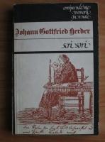 Anticariat: Johann Gottfried Herder - Scrisori