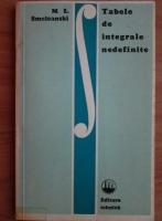 M. L. Smoleanski - Tabele de integrale nedefinite