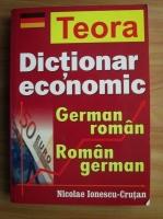 Anticariat: Nicolae Ionescu-Crutan - Dictionar economic german-roman, roman-german