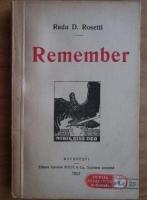 Radu D. Rosetti - Remember (1921)