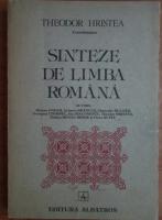 Anticariat: Theodor Hristea - Sinteze de limba romana