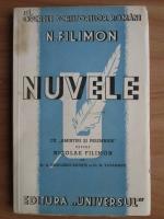 Anticariat: Nicolae Filimon - Nuvele (1942)