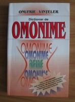 Onufrie Vinteler - Dictionar de omonime