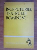 Tiberiu Avramescu - Inceputurile teatrului romanesc