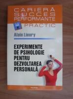 Anticariat: Alain Lieury - Experimente de psihologie pentru dezvoltarea personala