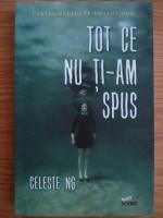 Anticariat: Celeste Ng - Tot ce nu ti-am spus