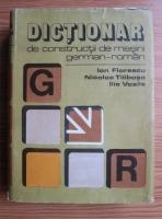 Anticariat: Ion Florescu - Dictionar de constructii de masini german-roman