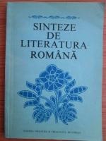 Anticariat: Viorel Alecu - Sinteze de literatura romana