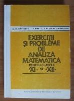 D.M. Batinetu - Exercitii si probleme de analiza matematica pentru clasele a 11-a si a 12-a
