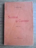 Anticariat: Garabet Ibraileanu - Scriitori si curente (1930)