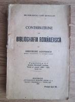 Anticariat: Gheorghe Adamescu - Contributiune la bibliografia romaneasca (fascicola a 2-a, 1923)