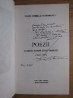 Toma George Maiorescu - Poezii (Cartea celor cinci obsesii) (cu autograful autorului)