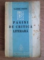 Anticariat: Vladimir Streinu - Pagini de critica literara (1938)