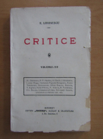 Anticariat: Eugen Lovinescu - Critice. Volumul 7: Literatura noua (1929)