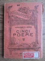 Anticariat: Haralamb G. Lecca - Cinci poeme (editie veche)