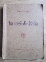 Ioan Petrovici - Impresii din Italia (1930)