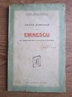 Mihail Dragomirescu - Critica Stiintifica si Eminescu (In contra metodei istorice in literatura) (1925)
