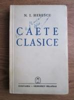 N. I. Herescu - Caete clasice (1941)