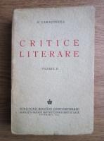 Anticariat: D. Caracostea - Critice literare (volumul 2, 1944)