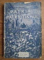 Anticariat: Delavrancea - Patria si patriotismul (1923)