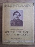 George Baiculescu - Clasicii romani comentati: Ioan Eliade Radulescu - Scrieri politice, sociale si linguistice (1942)