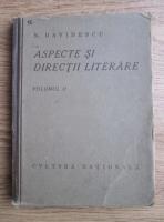 N. Davidescu - Aspecte si directii literare (1924, volumul 2)