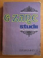 Gheorghe Zane - Studii