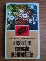 Constantin Ionescu Targoviste - Substantele minerale in alimentatie