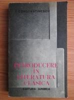 Anticariat: Ion Constantinescu - Introducere in literatura clasica