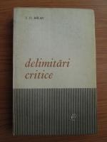 Anticariat: Ion Dodu Balan - Delimitari critice
