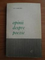 Anticariat: Ion Oarcasu - Opinii despre poezie
