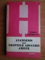 Tudor Ghideanu - Anamnesis sau treptele aducerii aminte